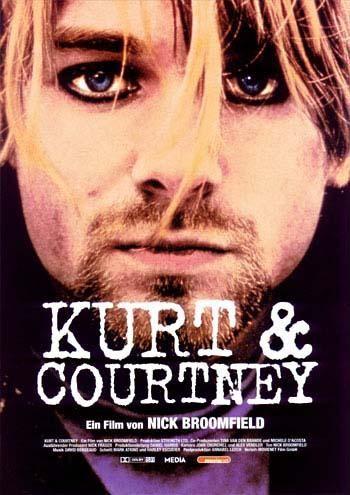 "Music Documentary: ""Kurt & Courtney"" (1998). COUNTRY: United Kingdom. DIRECTOR: Nick Broomfield. SCREENWRITER: Nick Broomfield. COMPOSER: David Bergeaud. CAST: Kurt Cobain, Courtney Love, Nick Broomfield"