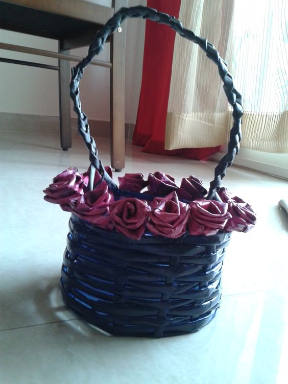 Basket - made by newspaper
