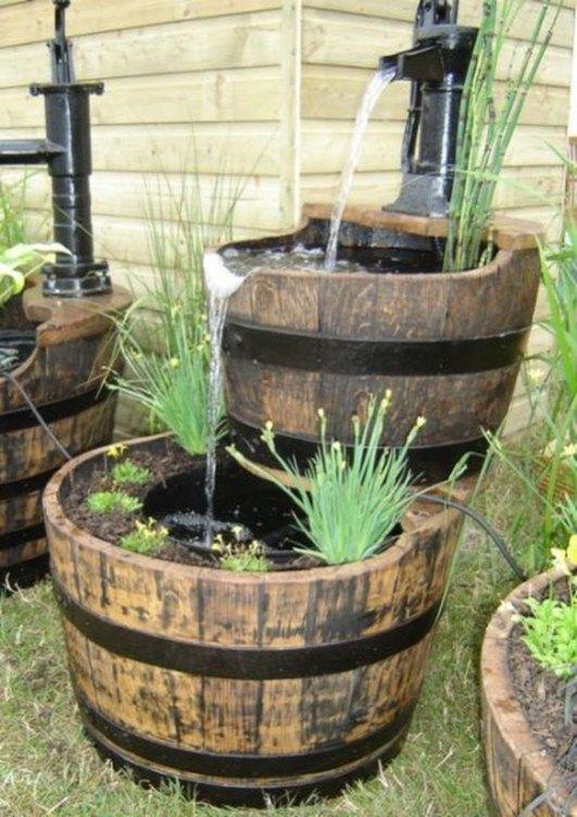 49 Inspiring Zen Water Fountain Ideas Garden Landscaping Unique Garden Art Ponds For Small Gardens Wine Barrel Garden