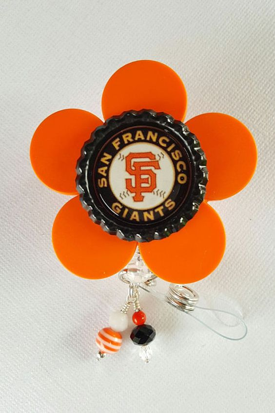 Retractable Badge Reel Name Tag ID Pull Clip Holder Lanyard SF Giants Fan Gift