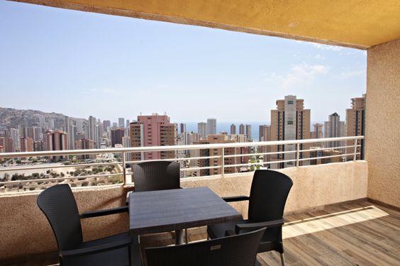 Marconfort #Benidorm Suites. Suite's Terrace - 70's 80's & 90's music themed hotel www.marconfort.com