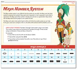 math worksheet : mayan math word problems  maya number system lesson student  : Mayan Math Worksheet