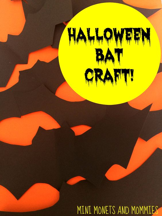 Bat Craft: Just need a hole punch, scissors, black paper, straws & string! You can use a white crayon to decorate them if wanted!