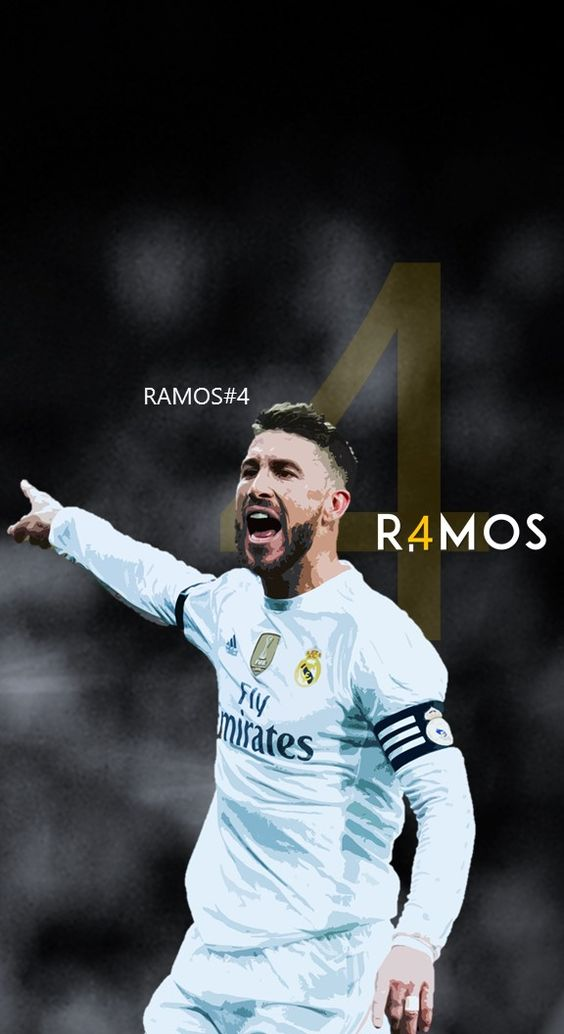 Sergio Ramos - Real Madrid - Football - Soccer Creative Art - wallpaper