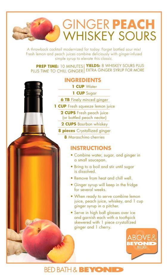 Whiskey sour, Whiskey and Peaches on Pinterest