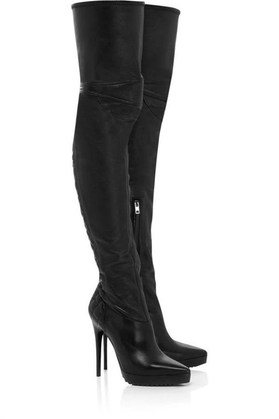 Boots for Women   Long boots Thigh High Heels For Women 10 Leather