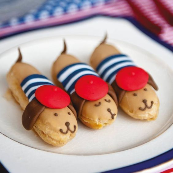 Parisian Pooch Eclairs. From the book Pretty Pâtisserie by Makiko Searle: