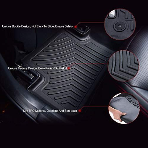 Coolshark Ford Edge Front Floor Mats Waterproof Floor Liner Custom Waterproof Flooring Rubber Flooring Ford Edge