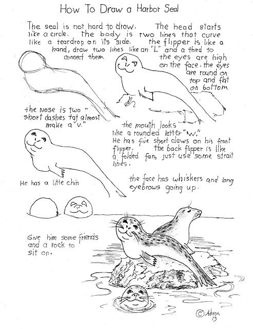 how to draw a lake easy