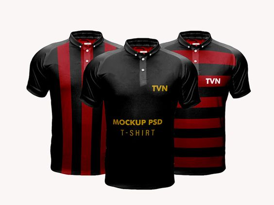 Realistic T Shirt Mockup Psd Mockup Kaos Sepak Bola Desain