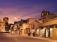 beautiful hotel to stay at in Santa Fe, right on the plaza and by the cathedral, love!