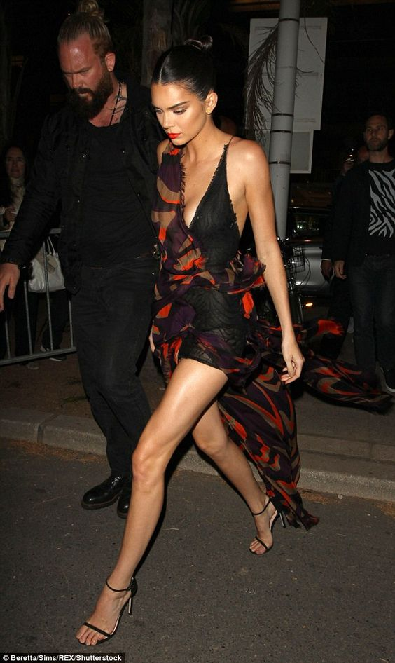 Kendall Jenner ups the glamour in extreme plunging gown at Cannes bash | Daily Mail Online: