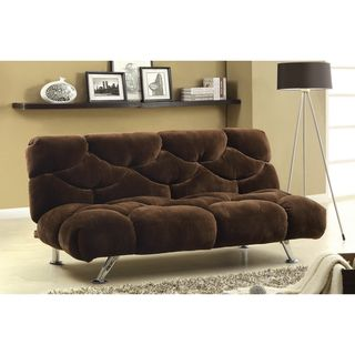 Furniture of America Modern Deep Dark Brown Cushion Champion Fabric Sofabed/Futon | Overstock.com Shopping - Great Deals on Furniture of America Futons