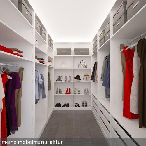 Ankleidezimmer im kleinen Raum. Passgenau bis zur Decke eingeplant. Mehr Inspirationen auf:  …