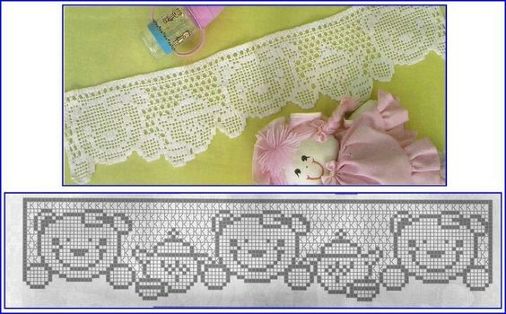 .idea: anime charicter, hello kitty, etc. lace