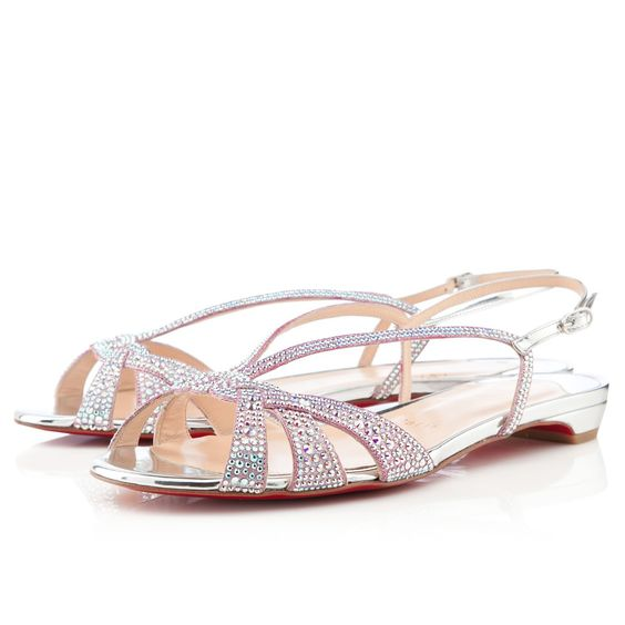 best replica christian louboutin shoes website - Christian Louboutin Lady strass Flat Sandals Silver | Photography ...