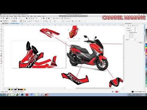 Free Download Pola Desain Decal Nmax File Corel Draw Desain Decal Video Desain