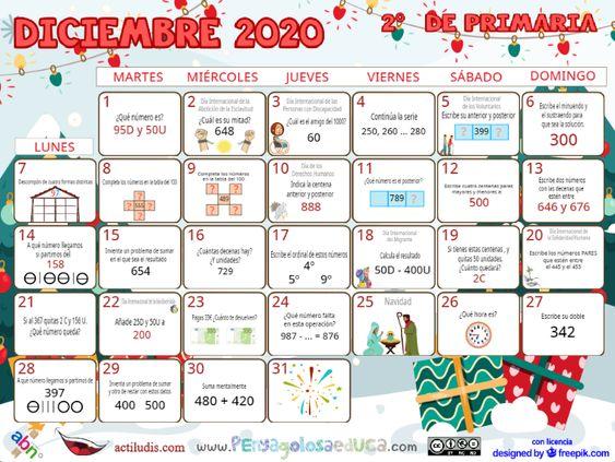 Calendario Segundo ABN – Diciembre 2020