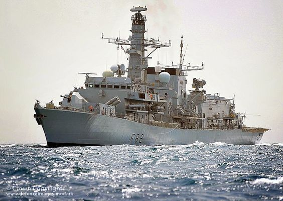 Royal Navy Type 23 frigate HMS Somerset is pictured on operations in the Arabian Gulf.: