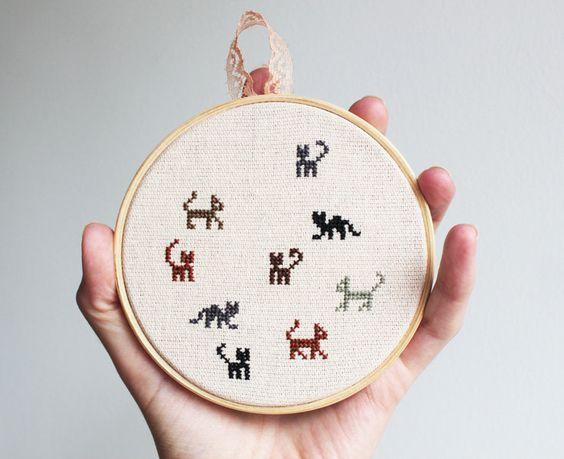 Cat cross stitches stitch and cats on pinterest