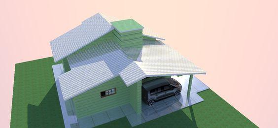 Vista do telhado. Projeto engenheira civil Gislaine M. Serafim