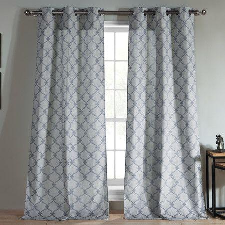 Trellis Grommet Curtain Panel (Set of 2) - FTC29 on Joss & Main
