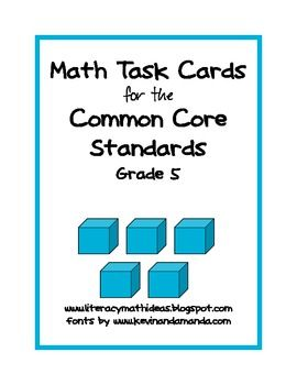 This document contains Common Core Math task cards for EVERY STANDARD!  Use them to review for the Common Core, as a daily bell ringer, or more! $4.00