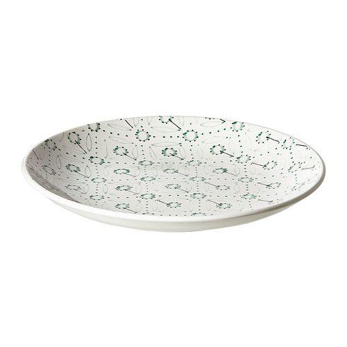 IKEA - ENIGT, Dessertteller, Ungewöhnliches Service mit Musters, Details und Reliefs, die an traditionelles Handwerk erinnern.