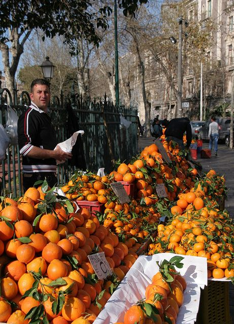 Orange Seller, Catania, Sicily, Italy