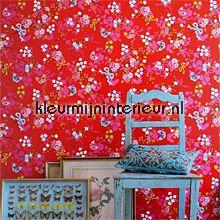 pip chinese rose red behang 386035 romantisch Eijffinger