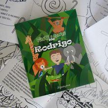 Livro para colorir personalizado para lembrancinha! Uma festa na floresta!