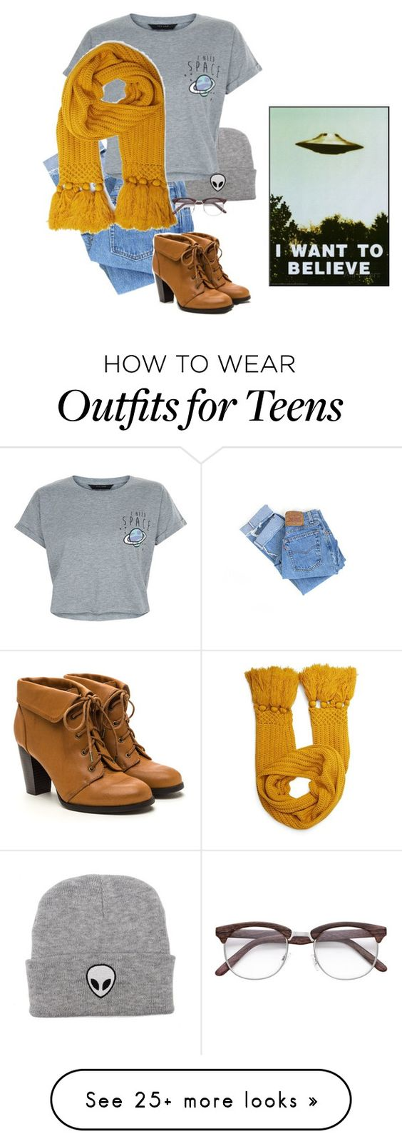 """""""The X Files."""" by southern-fangirl on Polyvore featuring Levi's, New Look and Forever 21"""