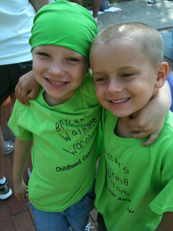 Brycen and his best friend Connor at the CureSearch walk for children's cancer ~ Orlando 2011