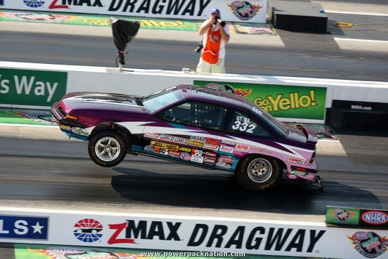Marion Stephenson's 1990 Pontiac Sunbird running in Super Stock at the NHRA Fourwide Nationals 2014