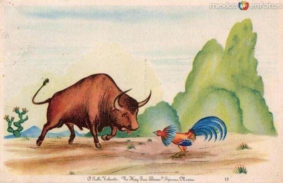 Fotos de , , México: A gallo valiente no hay toro bravo