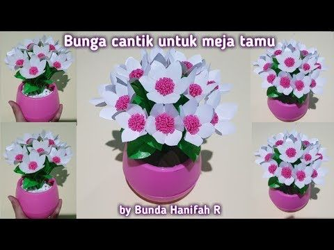 Diy How To Make Flower From Plastic Bag Ll Bunga Dari Plastik