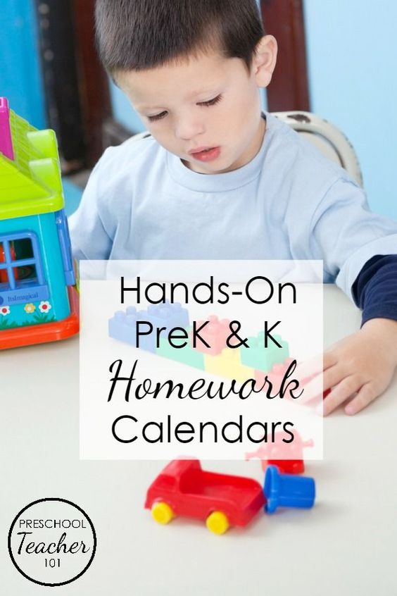 Editable, Printable Homework Calendars For Preschool Filled With
