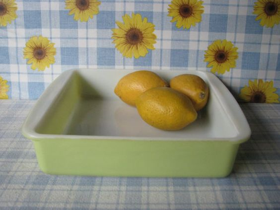 Pyrex Lime Green Cake Baking Pan Square by #LucyBettyNJune on Etsy