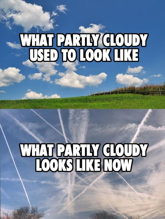 Chemtrails....i can't even remember the last time I saw a beautiful blue sky like in the top photo...: