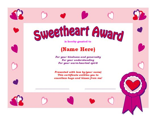 Share the Love MS Office Templates and Printables for Valentines – Free Award Certificate Templates for Word