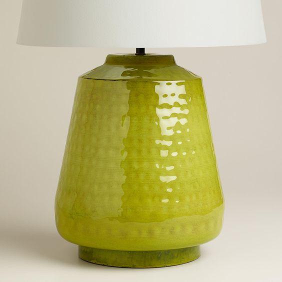 Green Enamel Table Lamp Base | World Market