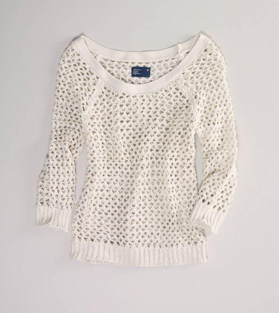 Open Stitch Sweater, AE
