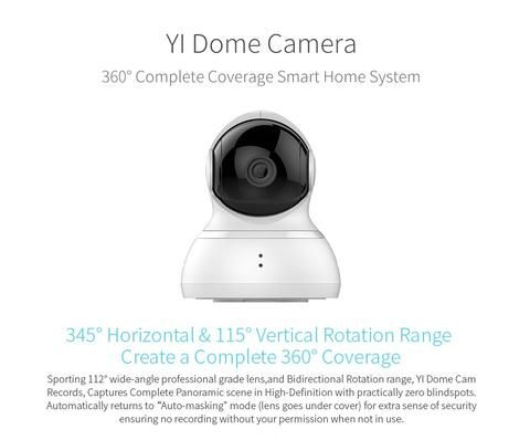 YI Dome Camera Wireless Indoor Security Surveillance System 720p HD Night Vision