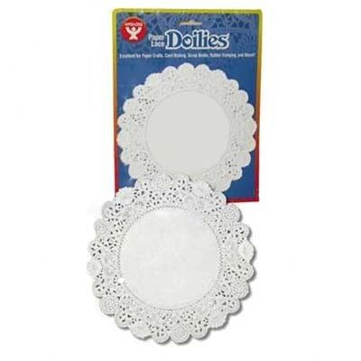 "Hygloss Products Inc Doilies 4"" White Round 100/pkg (Set of 2)"