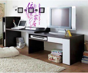 TV and desk bo Decor Pinterest