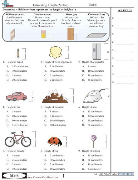 measurement worksheets and worksheets on pinterest. Black Bedroom Furniture Sets. Home Design Ideas