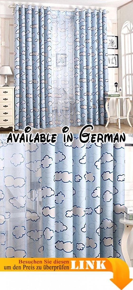 Met Love Cloud-Muster Umweltschutz Boden Vorhänge Schlafzimmer - vorhänge für schlafzimmer