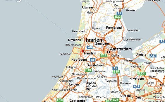 Map of Haarlem Netherland Travel Pinterest Haarlem
