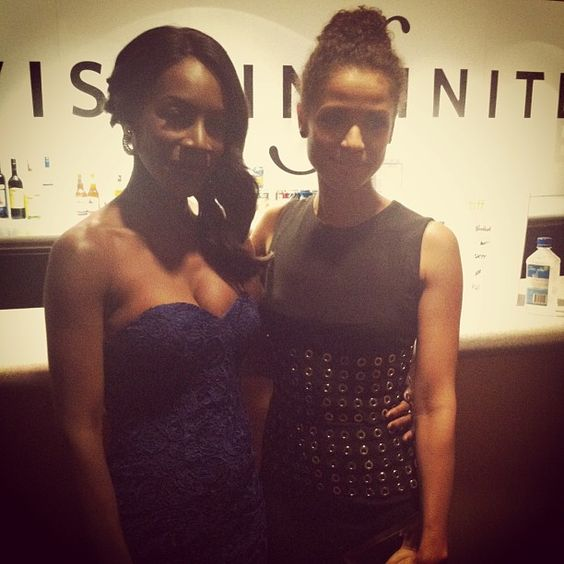 { TORONTO } We love these two ladies! Director and star of #BelleMovie, Amma Asante and Gugu Mbatha-Raw at their #TIFF13 premiere