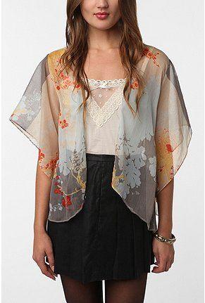 Kimchi Blue Chiffon Kimono Jacket